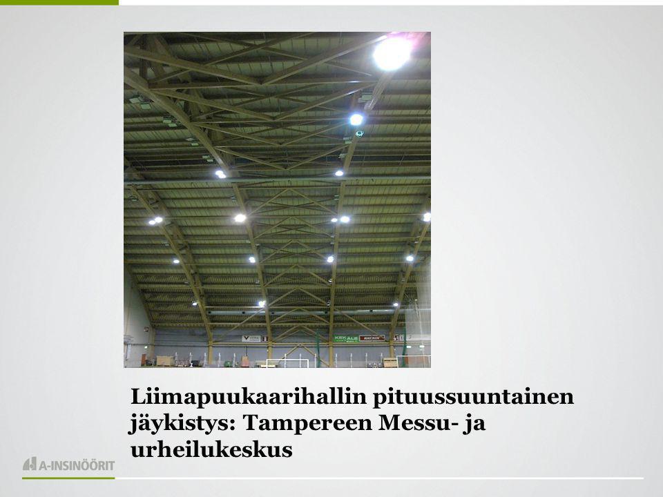 Liimapuukaarihallin pituussuuntainen jäykistys: Tampereen Messu- ja urheilukeskus