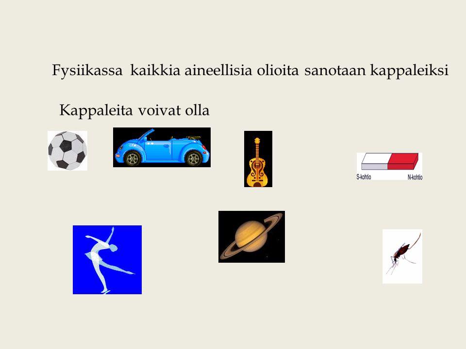 Fysiikassa kaikkia aineellisia olioita sanotaan kappaleiksi