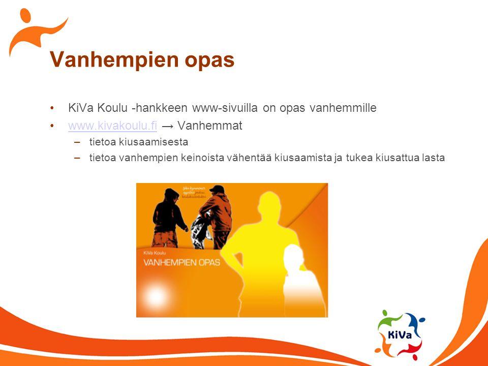 Vanhempien opas KiVa Koulu -hankkeen www-sivuilla on opas vanhemmille