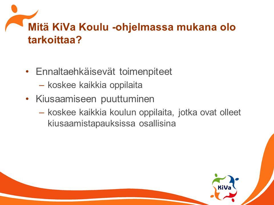 Mitä KiVa Koulu -ohjelmassa mukana olo tarkoittaa