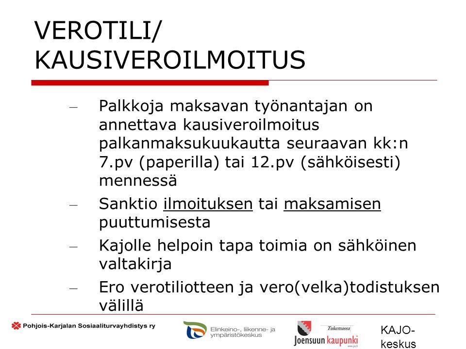 VEROTILI/ KAUSIVEROILMOITUS
