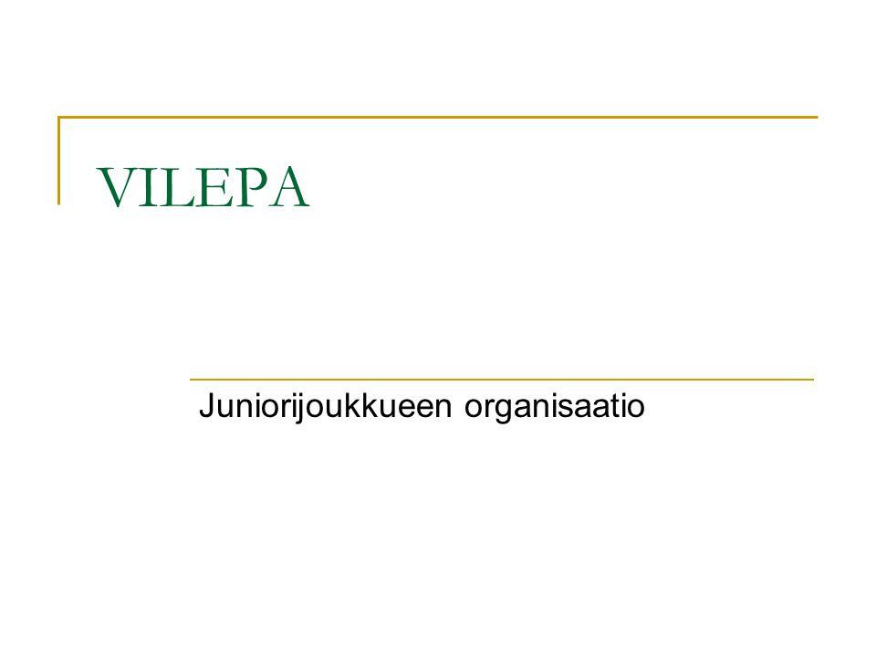 Juniorijoukkueen organisaatio