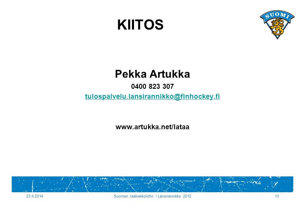 Suomen Jääkiekkoliitto / Länsirannikko 2012