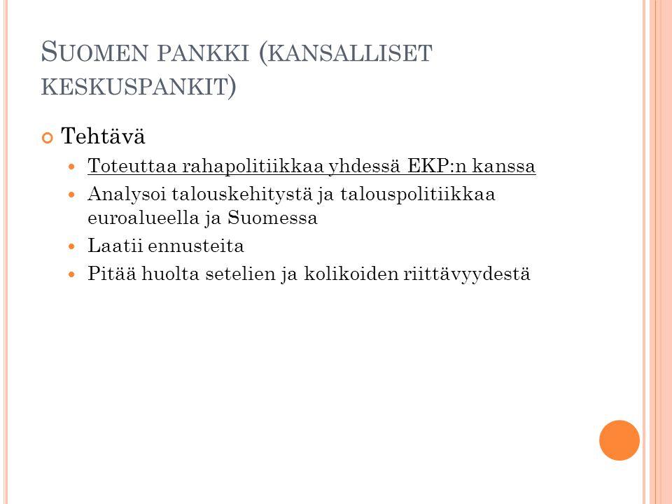 Suomen pankki (kansalliset keskuspankit)