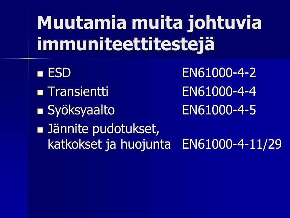 Muutamia muita johtuvia immuniteettitestejä