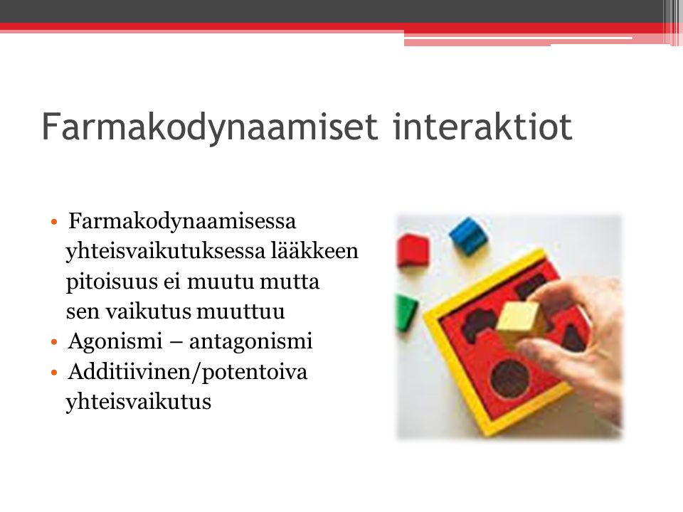 Farmakodynaamiset interaktiot