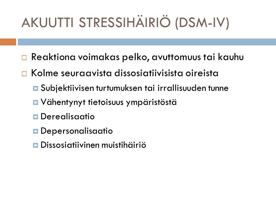 AKUUTTI STRESSIHÄIRIÖ (DSM-IV)