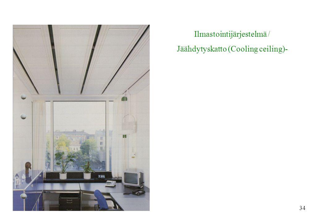 Ilmastointijärjestelmä / Jäähdytyskatto (Cooling ceiling)-