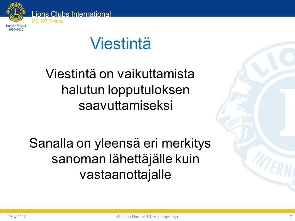Kristiina Nummi B Koulutusjohtaja