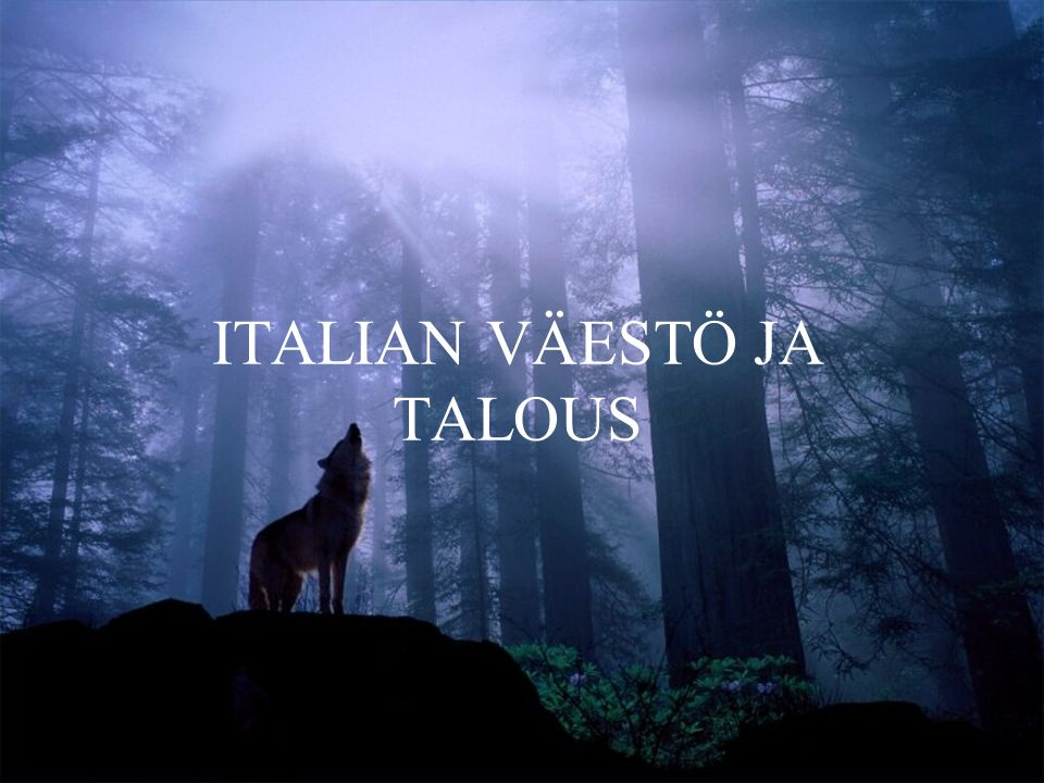 ITALIAN VÄESTÖ JA TALOUS