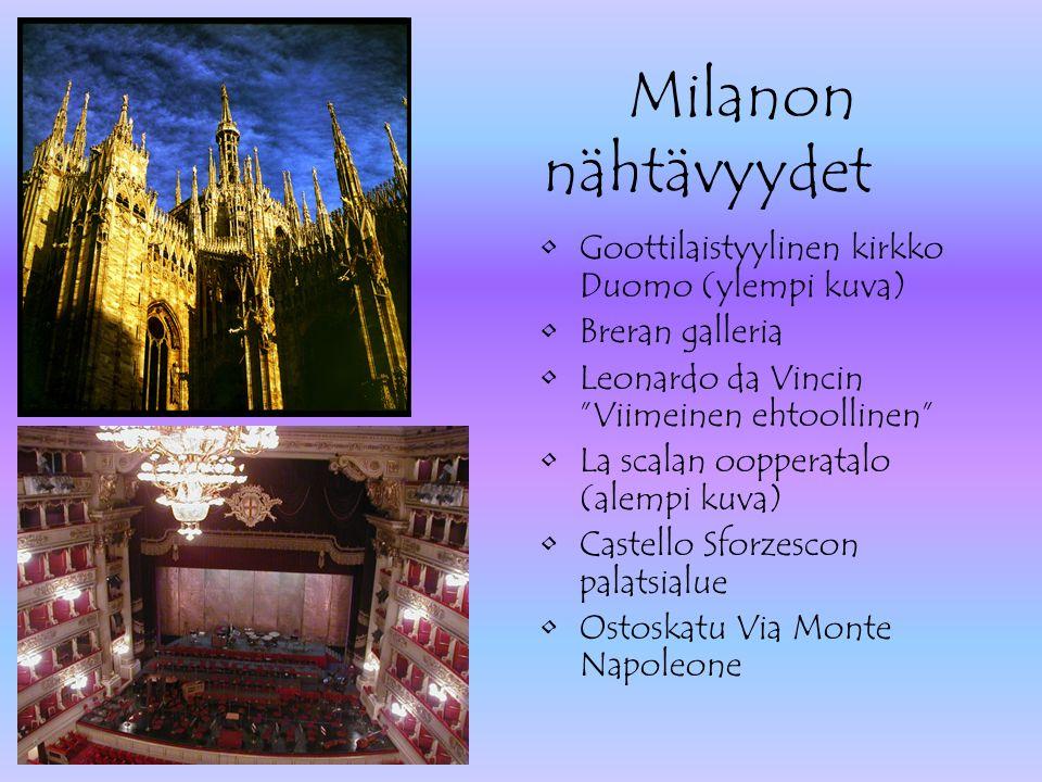Milanon nähtävyydet Goottilaistyylinen kirkko Duomo (ylempi kuva)