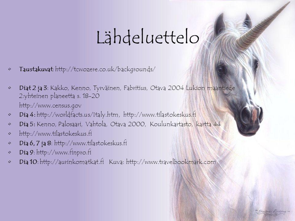 Lähdeluettelo Taustakuvat: http://tcwozere.co.uk/backgrounds/