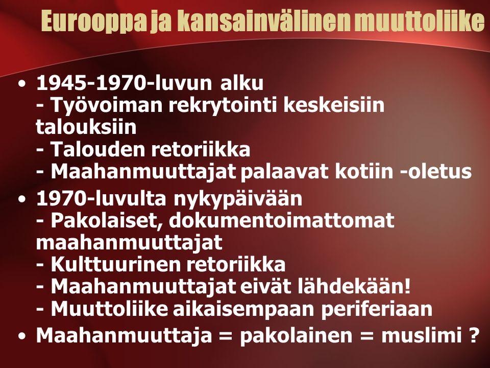 Uskonto ja maahanmuuttajat Suomessa - ppt lataa