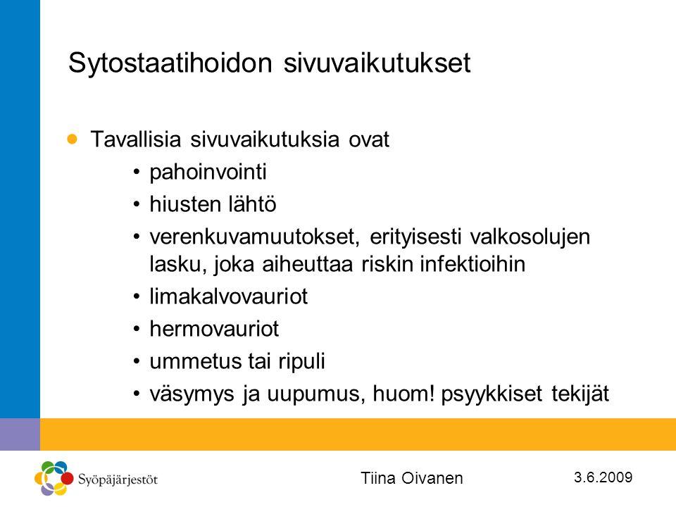 Sytostaatihoidon sivuvaikutukset