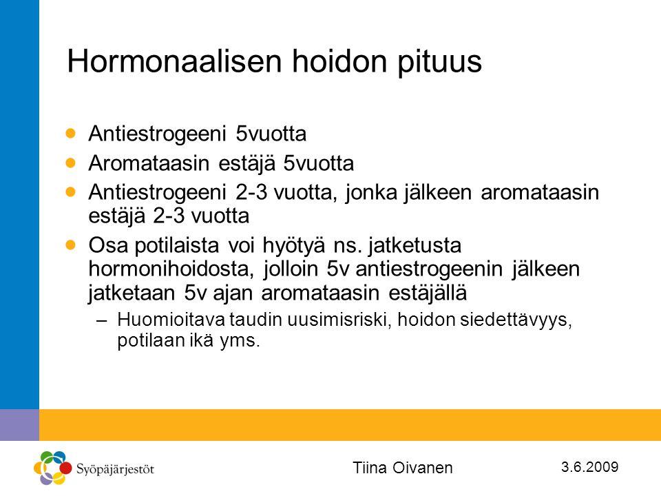 Hormonaalisen hoidon pituus