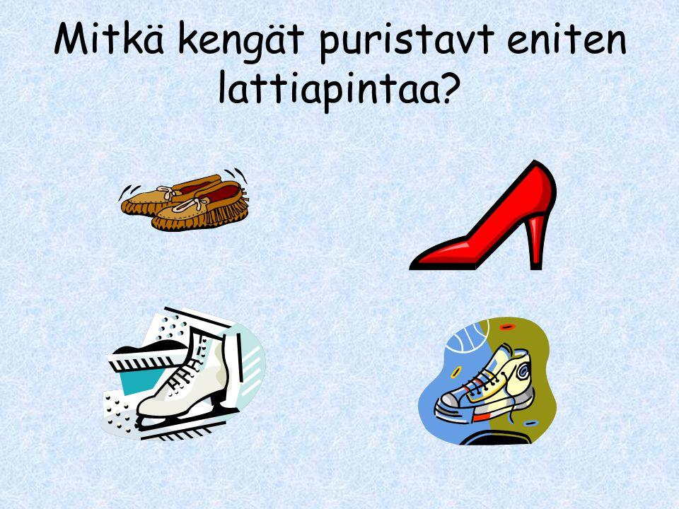 Mitkä kengät puristavt eniten lattiapintaa
