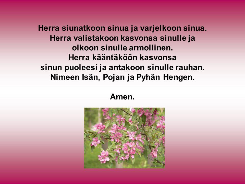 Herra siunatkoon sinua ja varjelkoon sinua