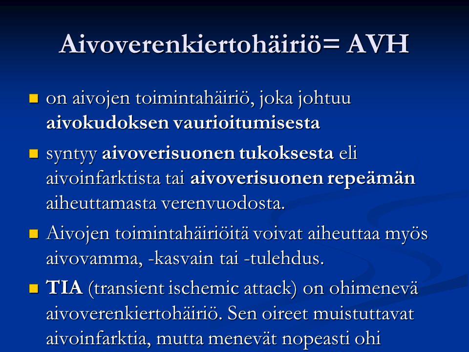 Aivoverenkiertohäiriö= AVH