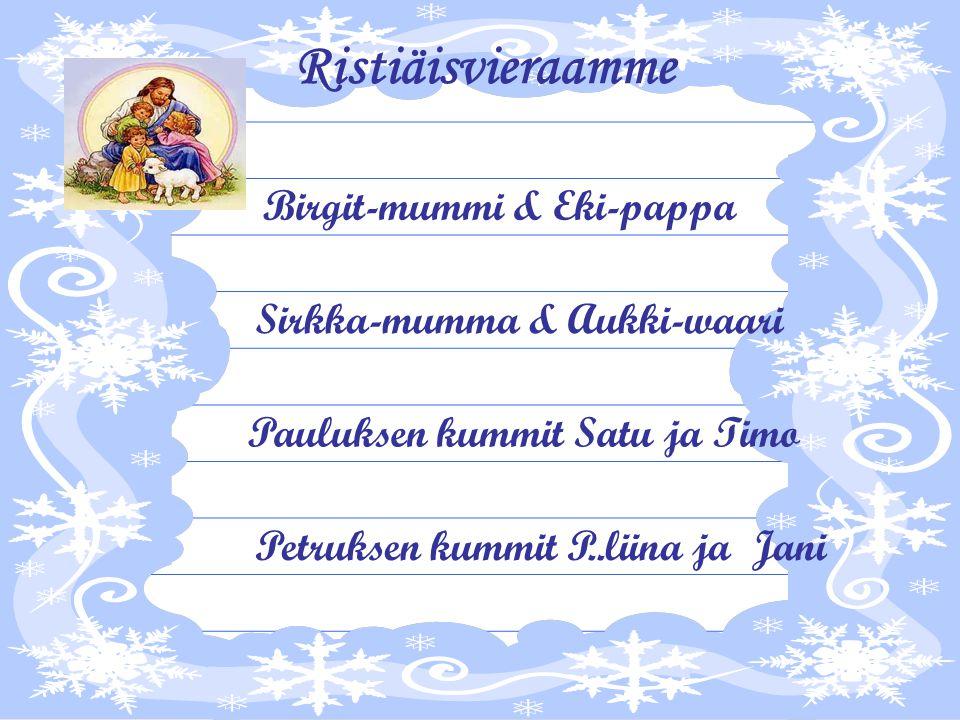 Birgit-mummi & Eki-pappa