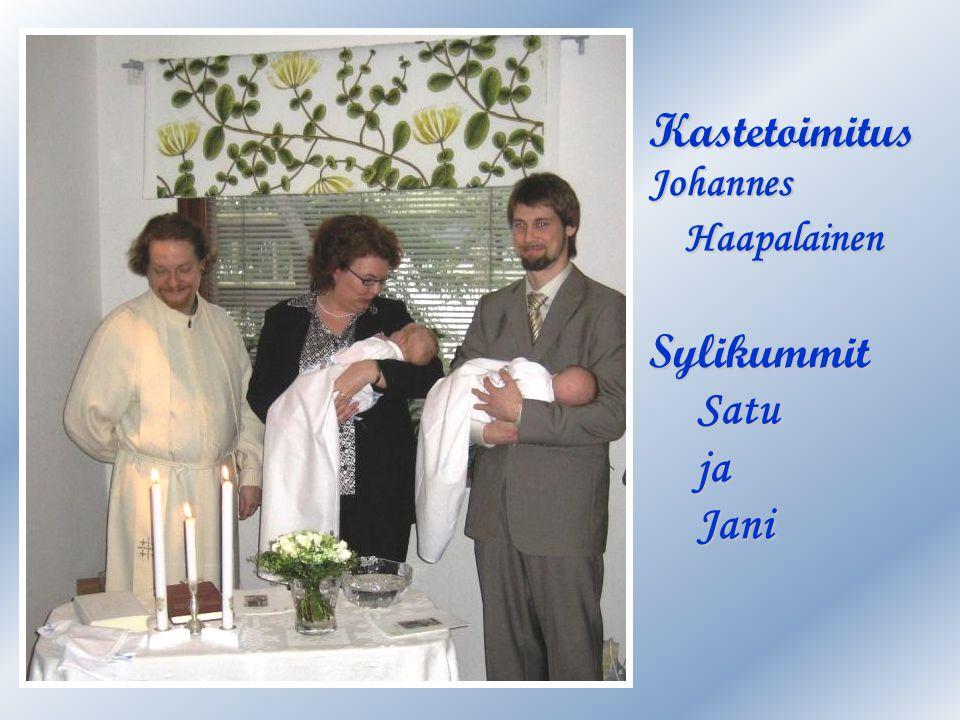 Kastetoimitus Johannes Haapalainen Sylikummit Satu ja Jani
