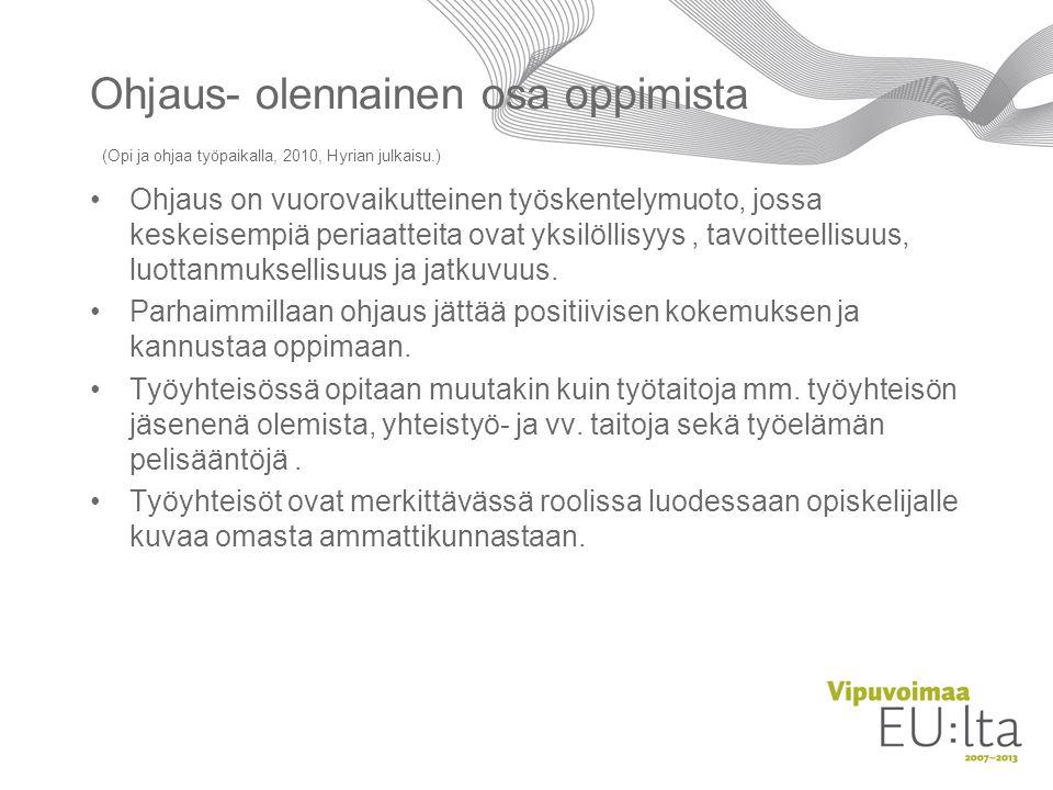 Ohjaus- olennainen osa oppimista (Opi ja ohjaa työpaikalla, 2010, Hyrian julkaisu.)