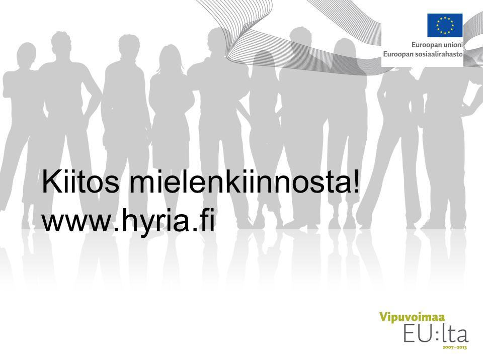 Kiitos mielenkiinnosta! www.hyria.fi