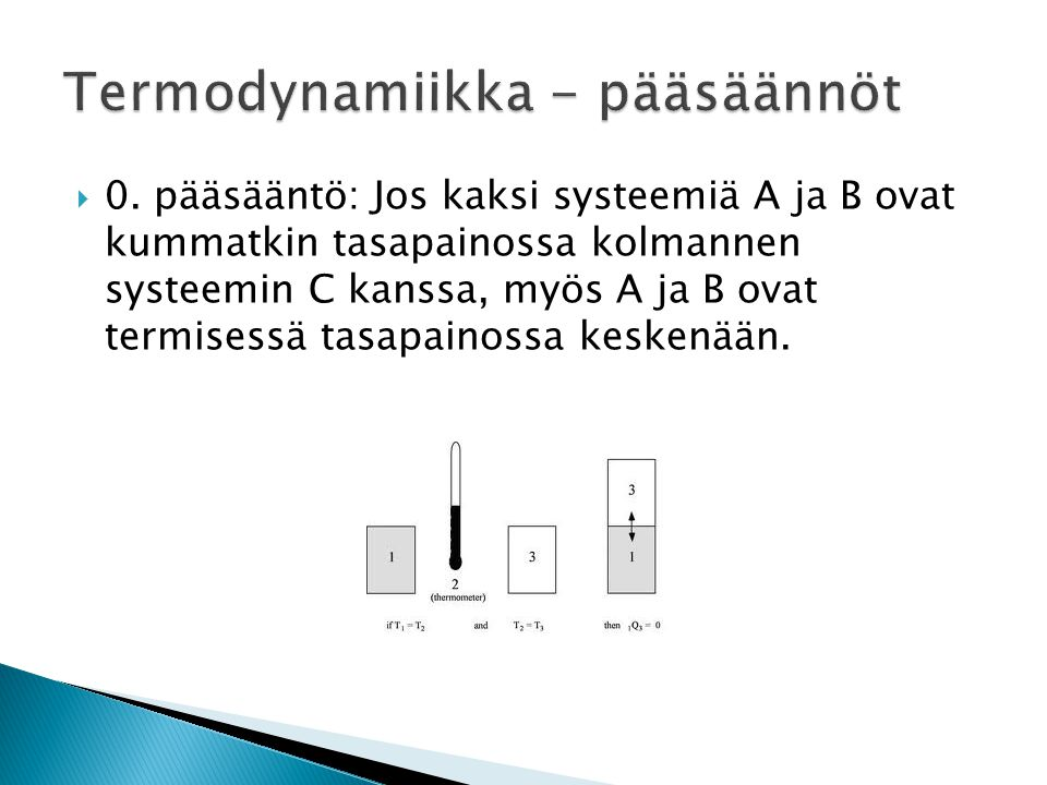 Termodynamiikka - pääsäännöt
