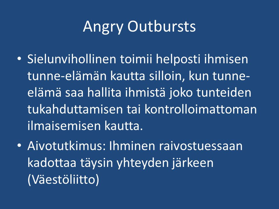 Angry Outbursts