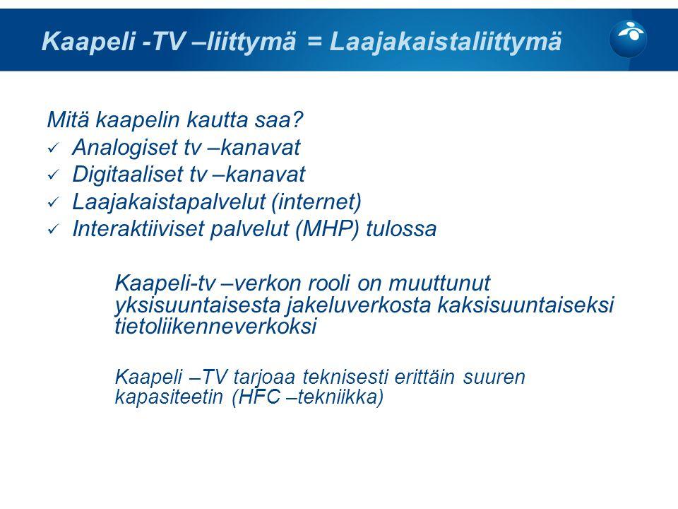 KPO:n Kaapeli-TV -palvelut - ppt lataa
