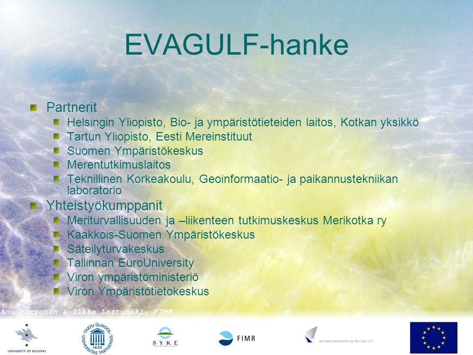 EVAGULF-hanke Partnerit Yhteistyökumppanit