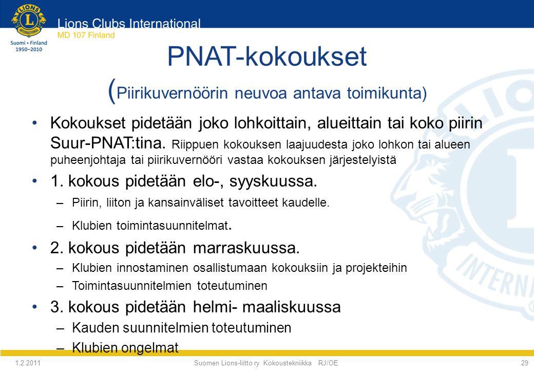 PNAT-kokoukset (Piirikuvernöörin neuvoa antava toimikunta)