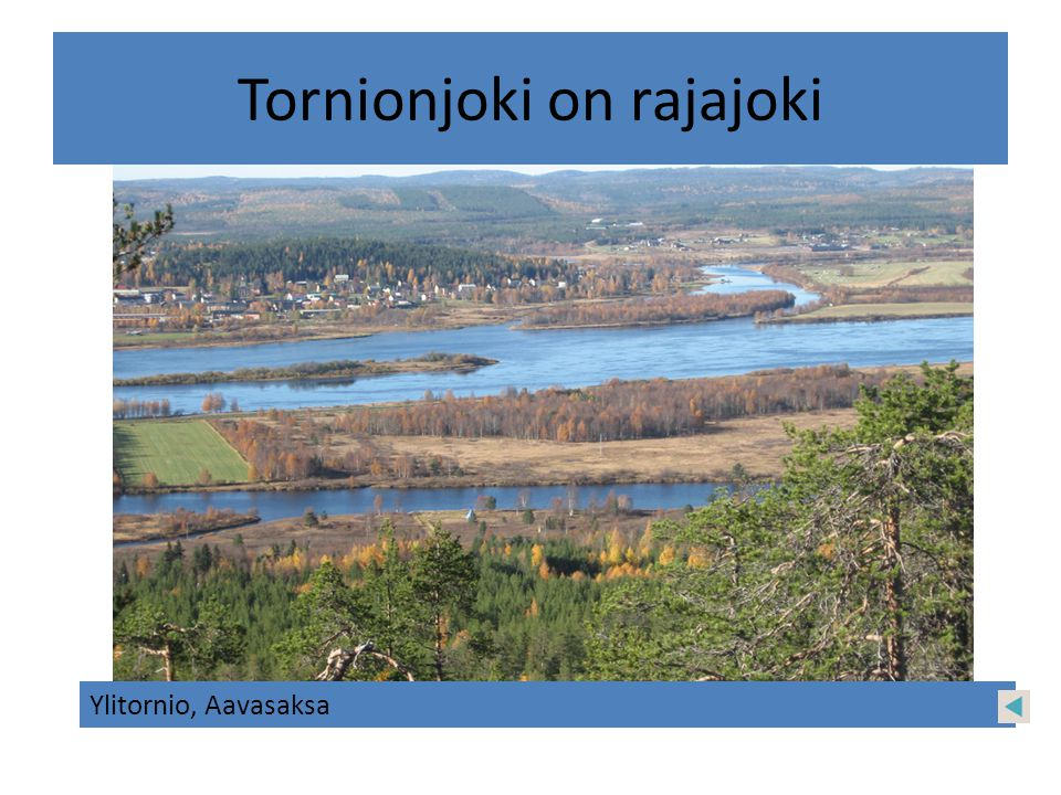 Tornionjoki on rajajoki