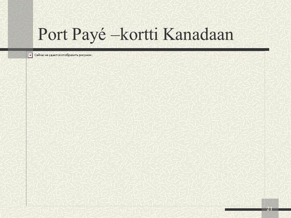 Port Payé –kortti Kanadaan