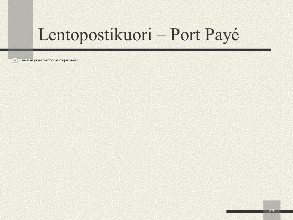 Lentopostikuori – Port Payé