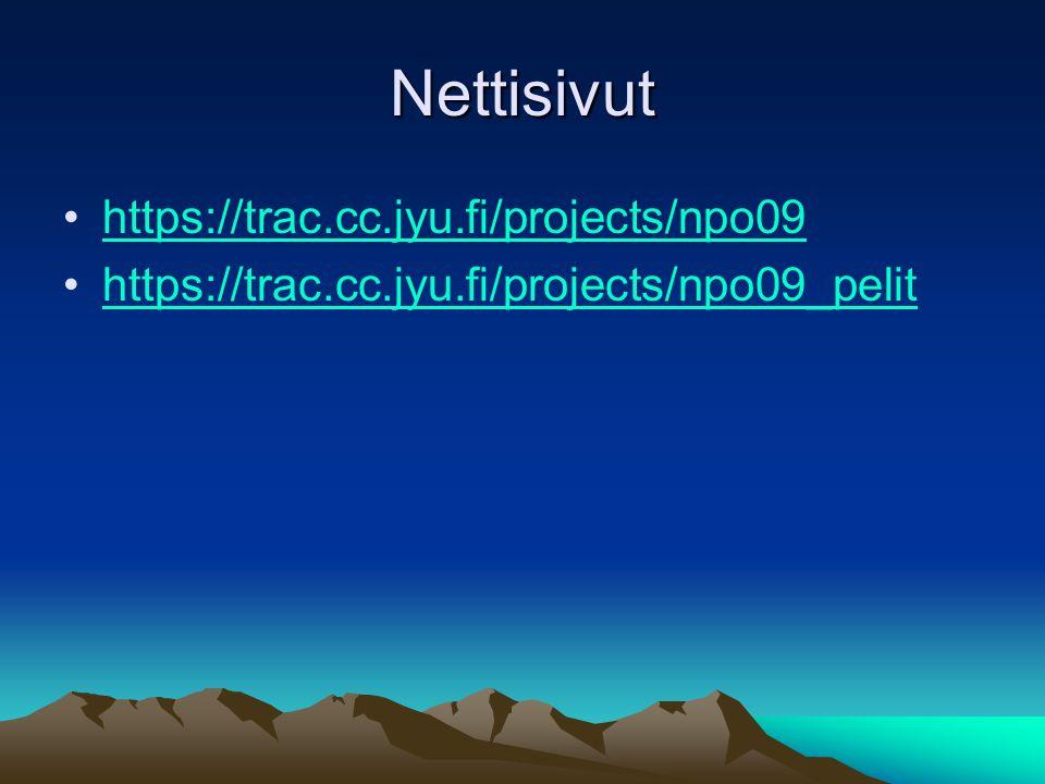 Nettisivut https://trac.cc.jyu.fi/projects/npo09