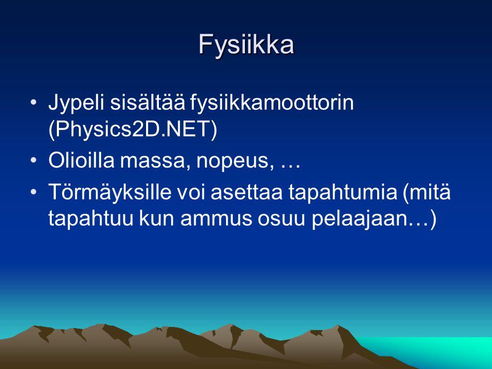 Fysiikka Jypeli sisältää fysiikkamoottorin (Physics2D.NET)