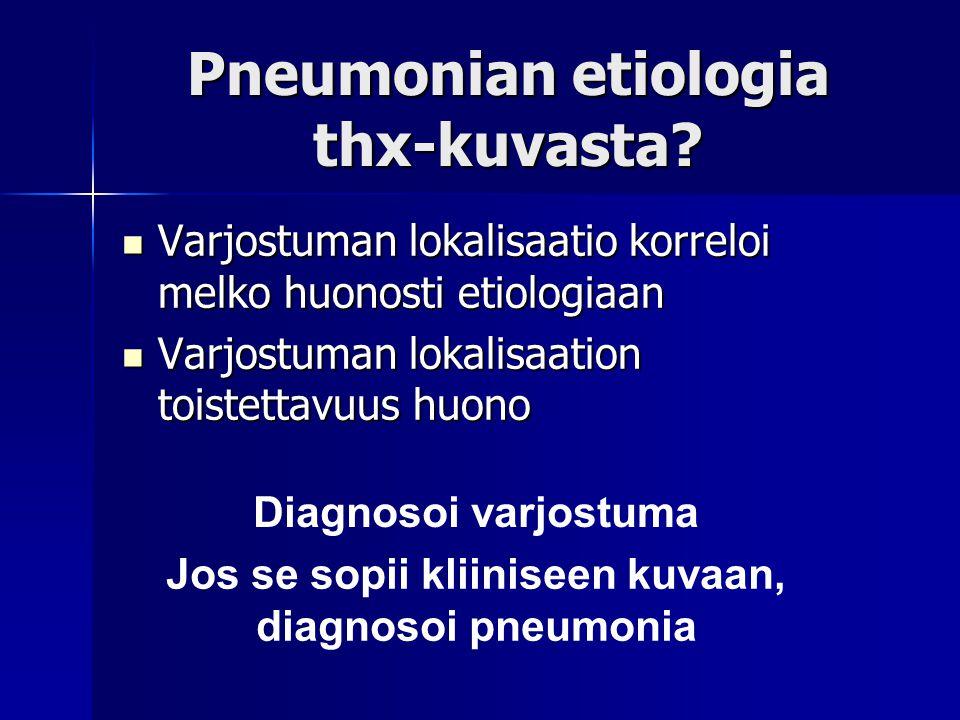 Pneumonian etiologia thx-kuvasta