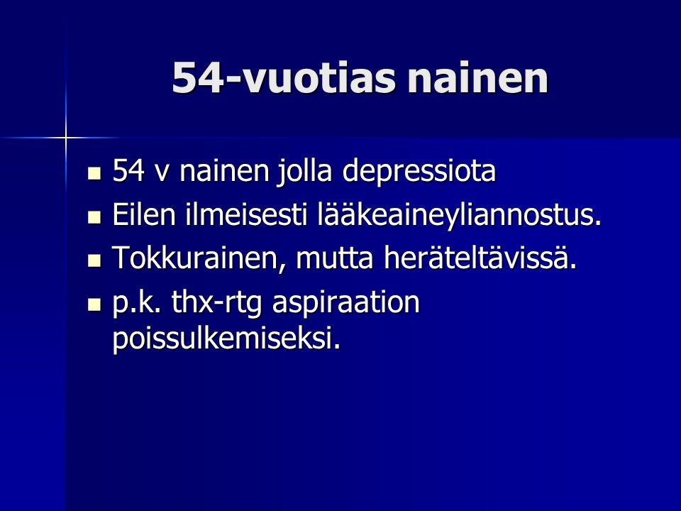 54-vuotias nainen 54 v nainen jolla depressiota