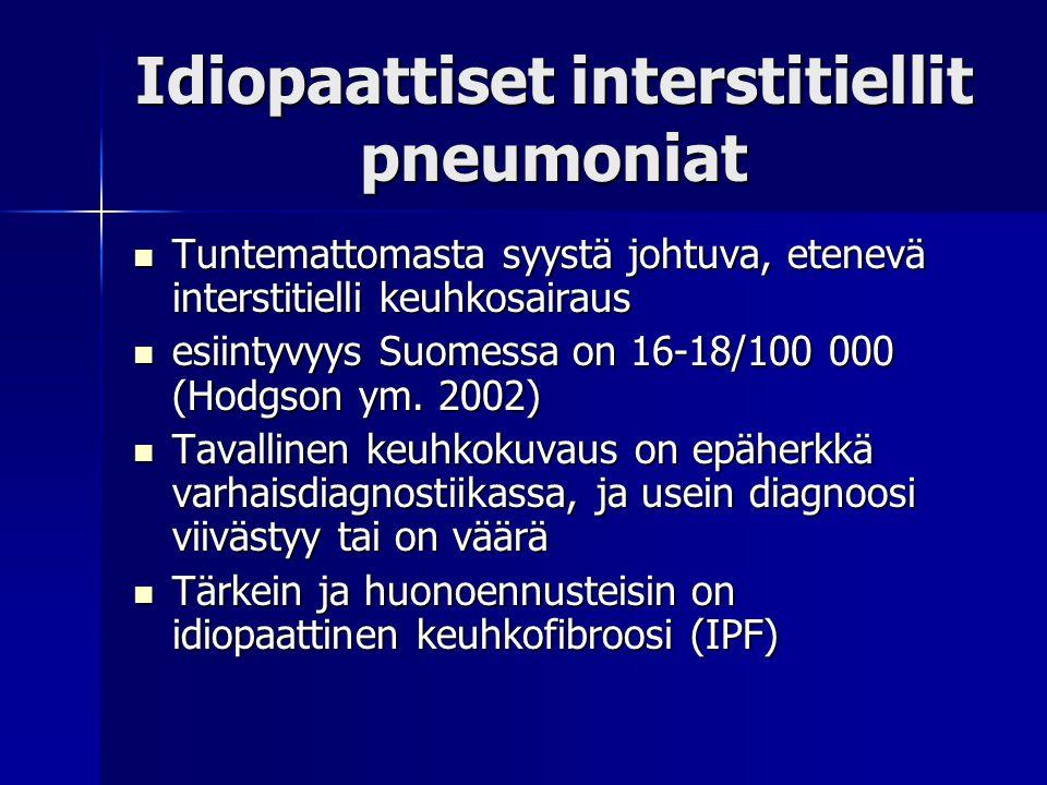 Idiopaattiset interstitiellit pneumoniat