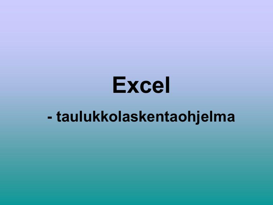 Excel viittaus toiseen välilehteen