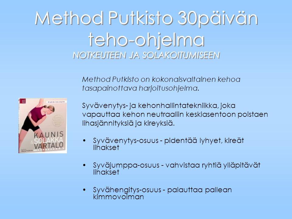 Method Putkisto 30päivän teho-ohjelma NOTKEUTEEN JA SOLAKOITUMISEEN