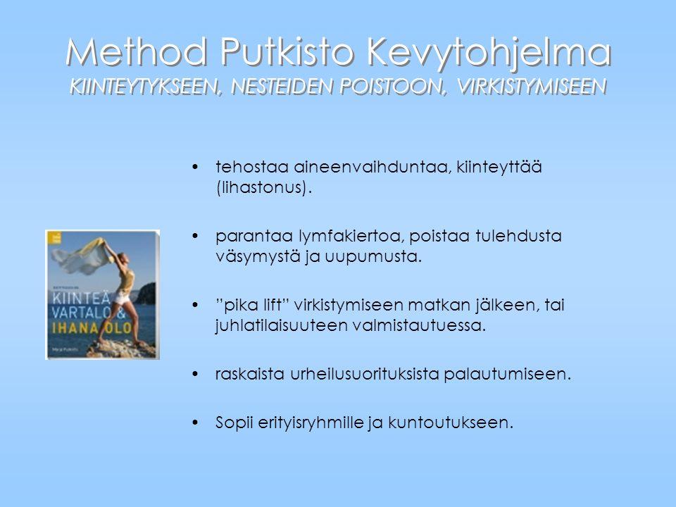 Method Putkisto Kevytohjelma KIINTEYTYKSEEN, NESTEIDEN POISTOON, VIRKISTYMISEEN