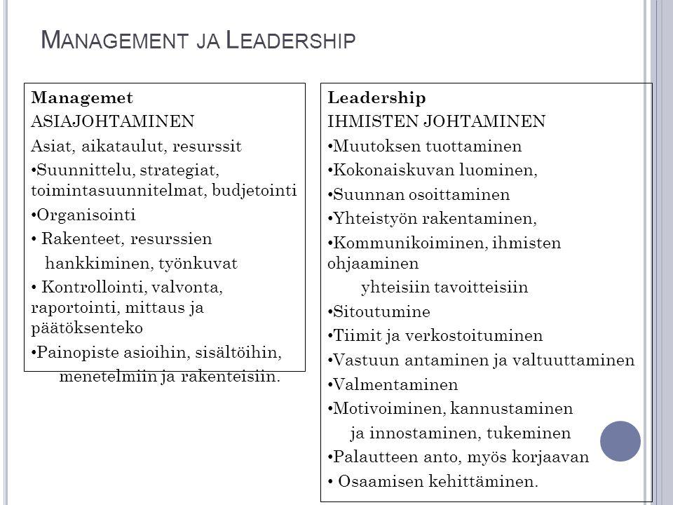 Management ja Leadership