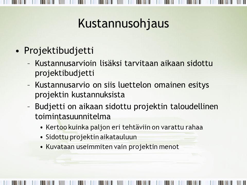 Kustannusohjaus Projektibudjetti