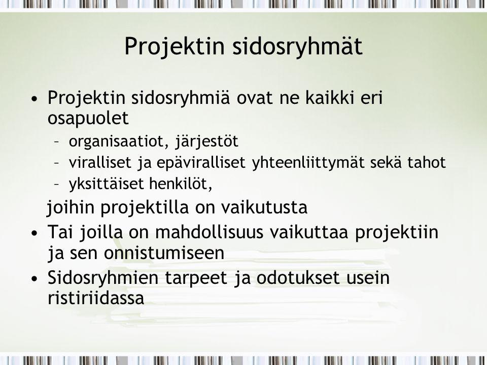 Projektin sidosryhmät