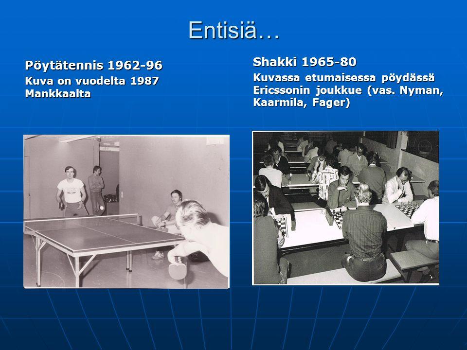 Entisiä… Pöytätennis 1962-96 Shakki 1965-80