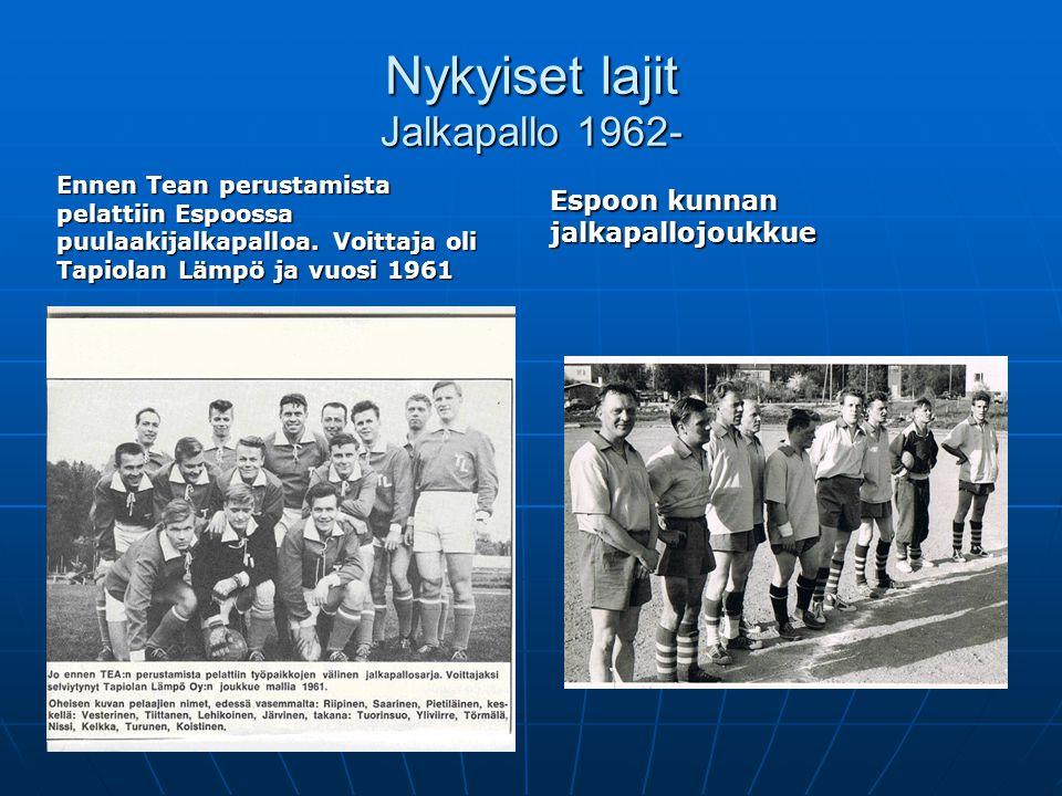 Nykyiset lajit Jalkapallo 1962-