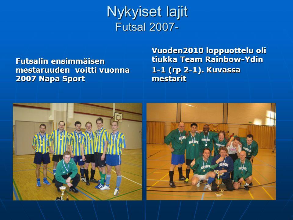 Nykyiset lajit Futsal 2007-