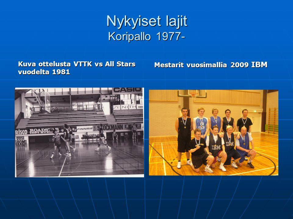 Nykyiset lajit Koripallo 1977-