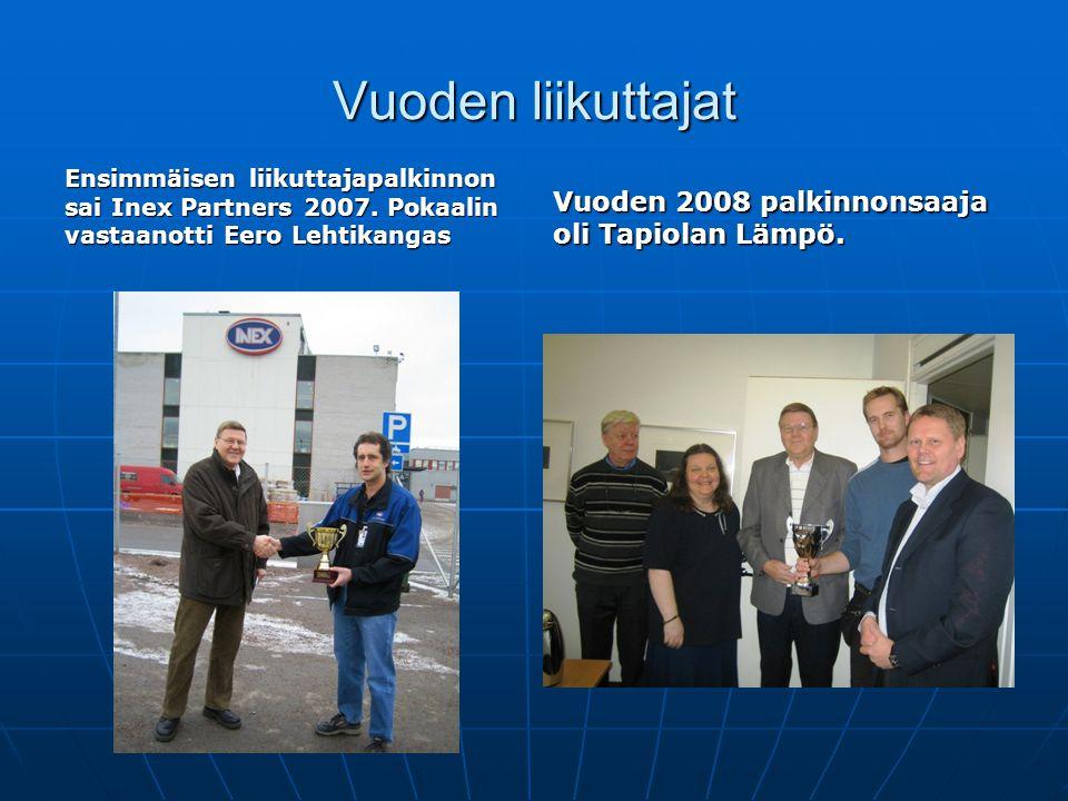 Vuoden liikuttajat Vuoden 2008 palkinnonsaaja oli Tapiolan Lämpö.